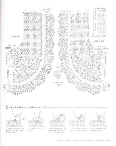tejidos crochet   crochet bolero chart pattern diagram