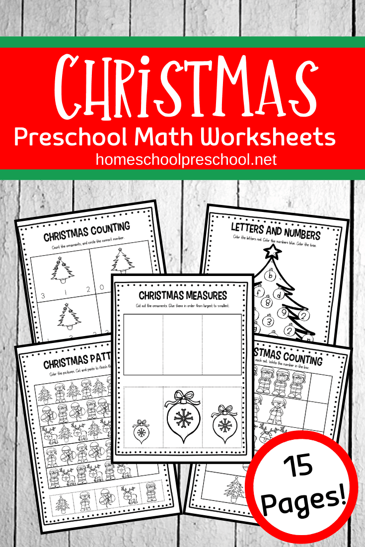 Free Christmas Math Worksheets For Preschoolers Christmas Math Worksheets Christmas Math Preschool Math Worksheets [ 1102 x 735 Pixel ]