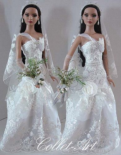 "2013 Tonner 22"" American Model OOAK Fashion Outfit ""Wedding Dreams"" Collet-Art 