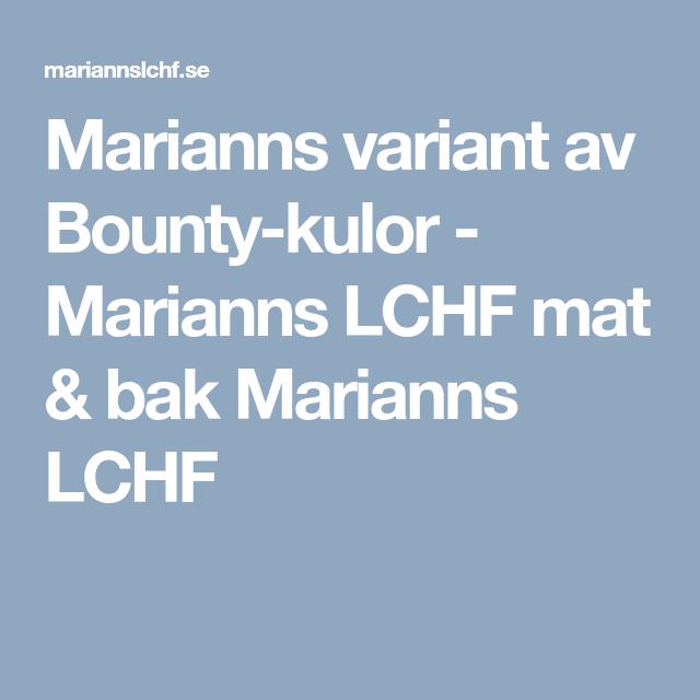 Marianns variant av Bounty-kulor - Marianns LCHF mat & bak Marianns LCHF