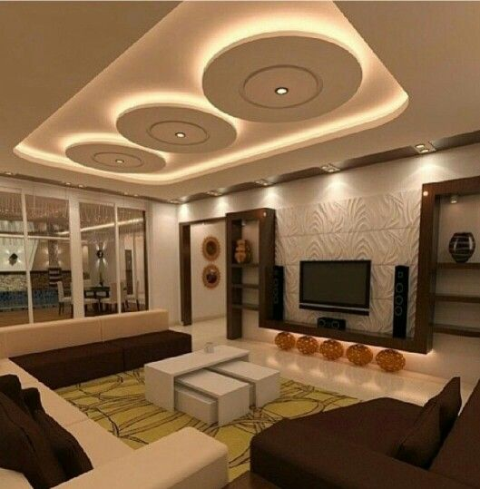 Amazing Ceiling Designs For Your TV Lounge