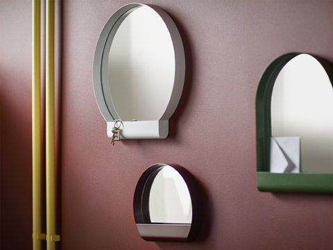 Specchi Tondi Varie Misure.Ypperlig Collection Specchio Da Bagno Idee Ikea Piccole Mensole