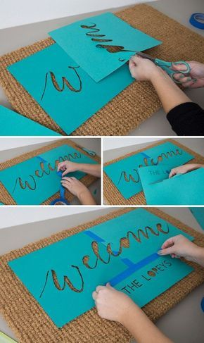 OMG, These Handmade, Personalized Natural Door Mats Are SO Cute! -   19 diy projects Creative cool ideas