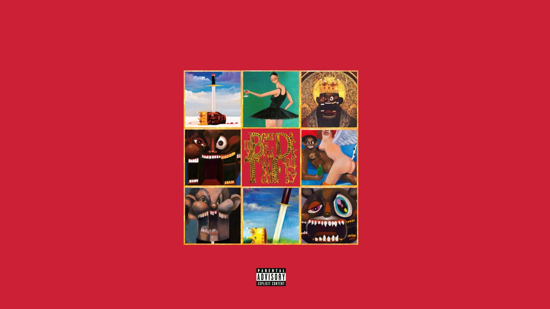 My Beautiful Dark Twisted Fantasy 1920 By 1080 R Wallpapers Beautiful Dark Twisted Fantasy Dark And Twisted Kanye West Album Cover