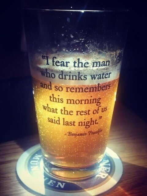 Benjamin Franklin Sharing His Thoughts Beer Quotes Funny Beer Quotes Beer