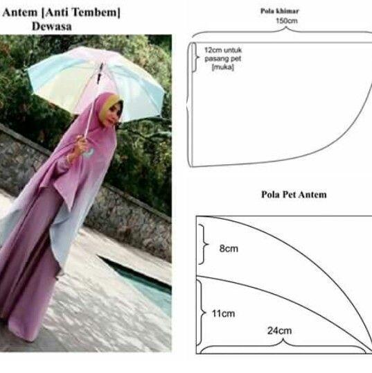 Hijab N Gamis Sari I Khimar Pattern Pinterest Hijab Fashion