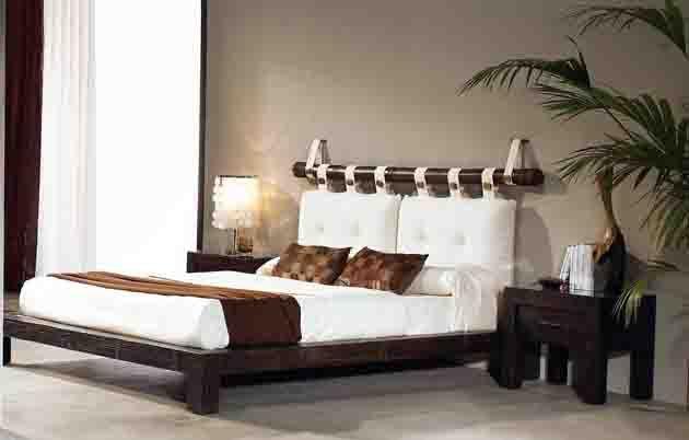 Lits avec pied de lit bas en bambou modéle AFRIQUE. Décoration ...