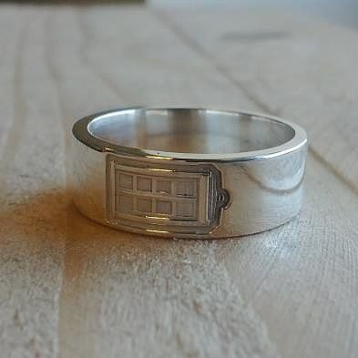 Autobot Tardis Unique mens wedding bands and Weddings