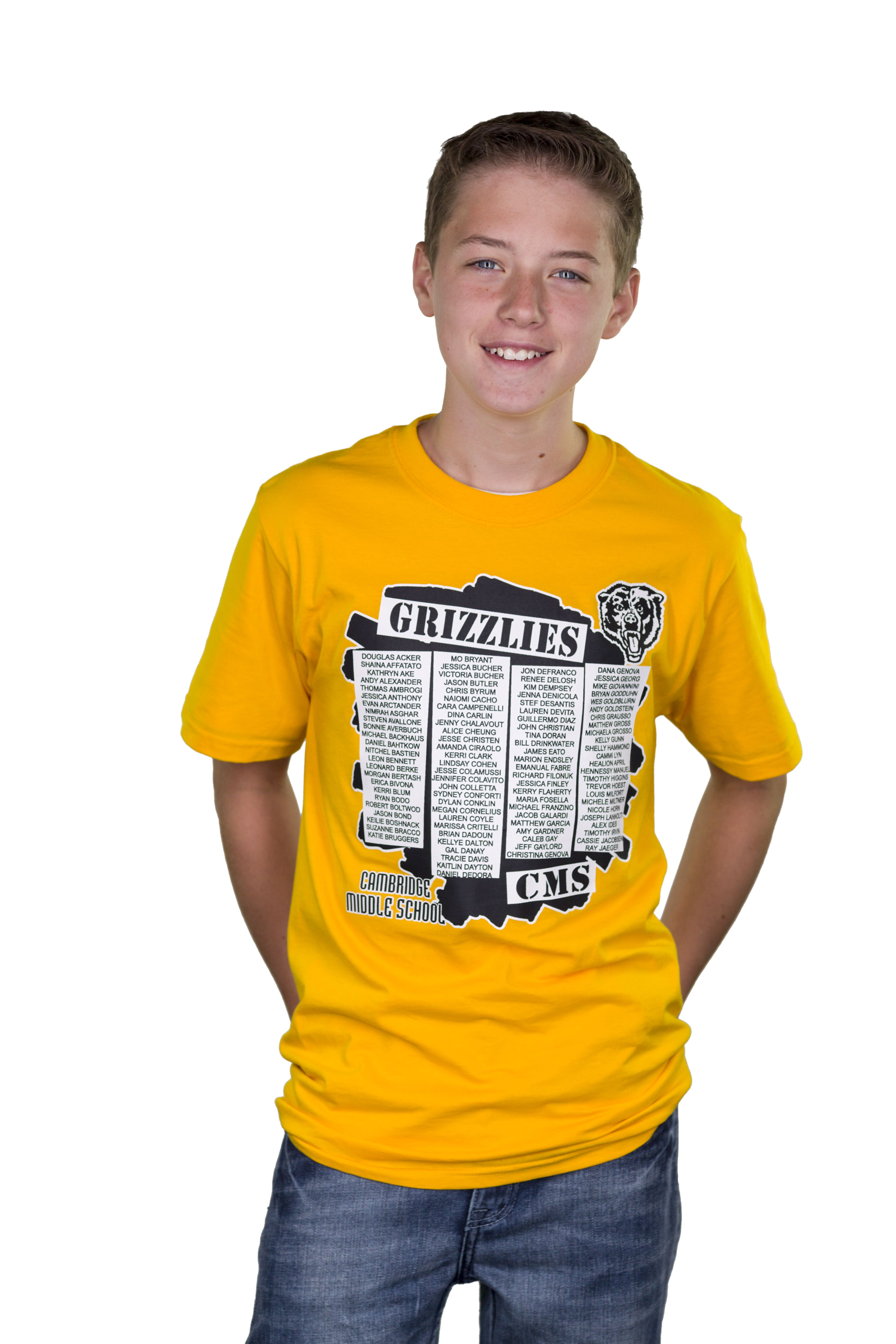 School shirt design your own -  Middleschool Class List T Shirt Design With Mascot Switch Grizzly For Your Own