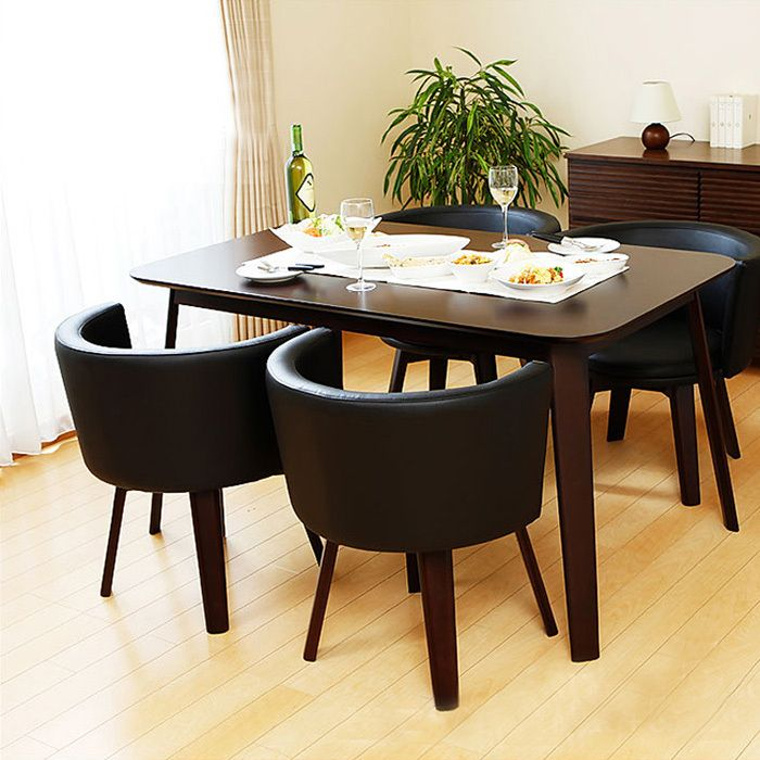 Cafe Restaurant Wood Dining Table Four Chairs Combination Of Small