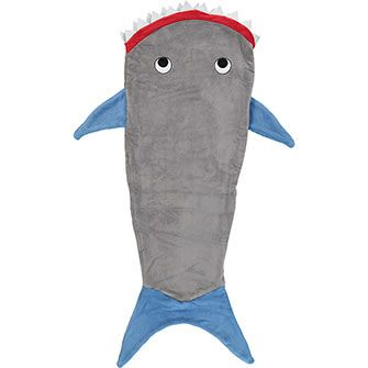 Grey Plush Shark Sleeping Bag
