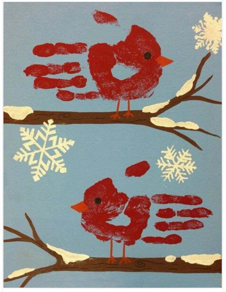 Winter Craft Ideas For Kids Part - 47: Handprint Cardinal Craft For Kids.