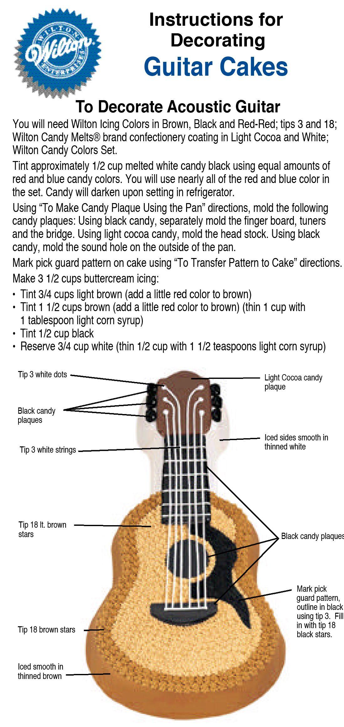Guitar cake | wilton.