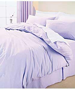 Plain Dyed Double Duvet Set - Lilac