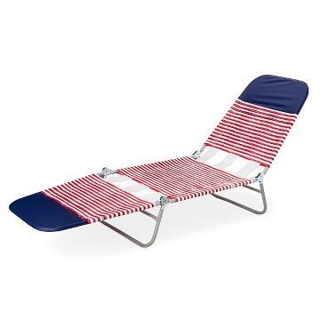 Patio Jelly Lounger Red White Blue Room Essentials Already Viewed In 2020 Beach Lounge Chair Outdoor Folding Chairs Folding Lounge Chair