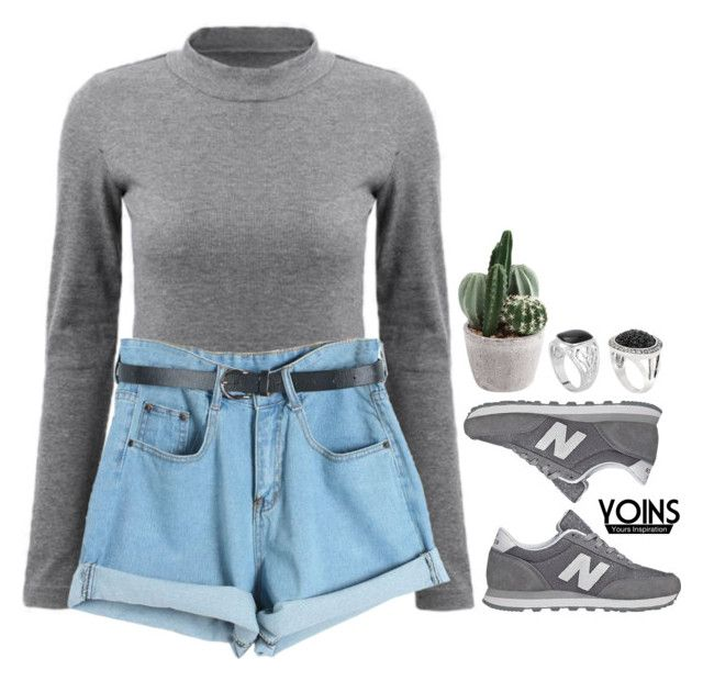 """Yoins 7.26"" by emilypondng ❤ liked on Polyvore featuring Chicnova Fashion, New Balance, yoins, yoinscollection and loveyoins"