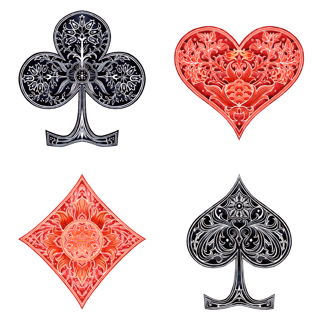 Card Suits By Losenko On Deviantart Playing Card Tattoos Playing Cards Art Card Tattoo