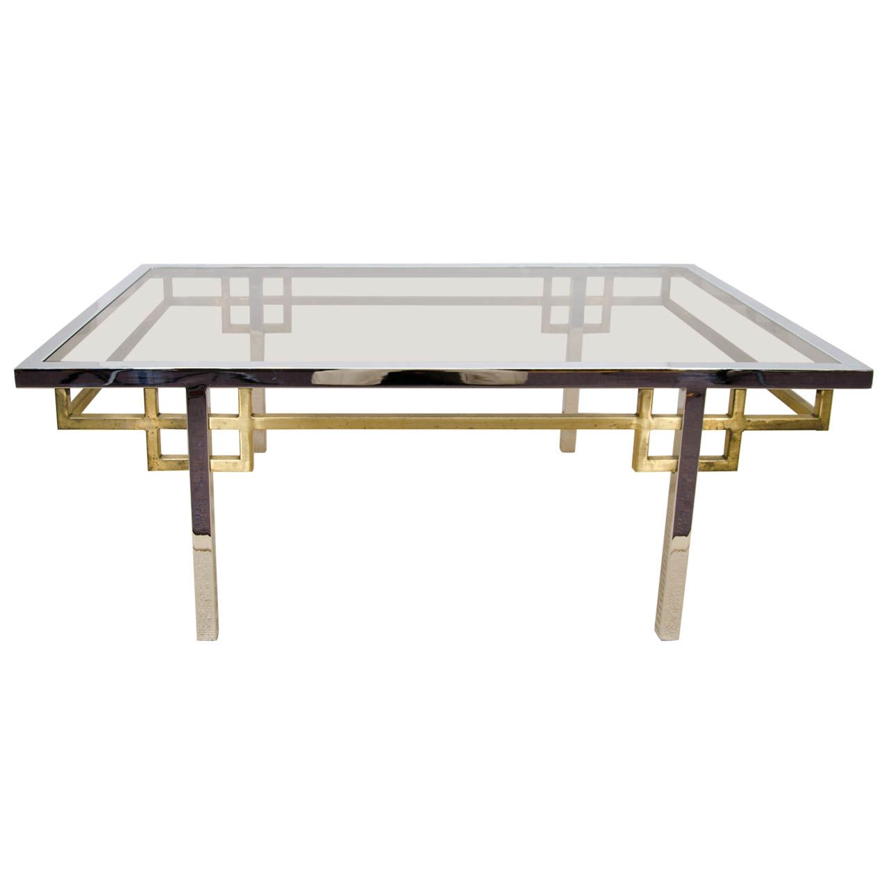 A Mid Century Brass Chrome And Glass Coffee Table Glass Coffee Table Brass Coffee Table Brass Cocktail Table [ 1280 x 1280 Pixel ]