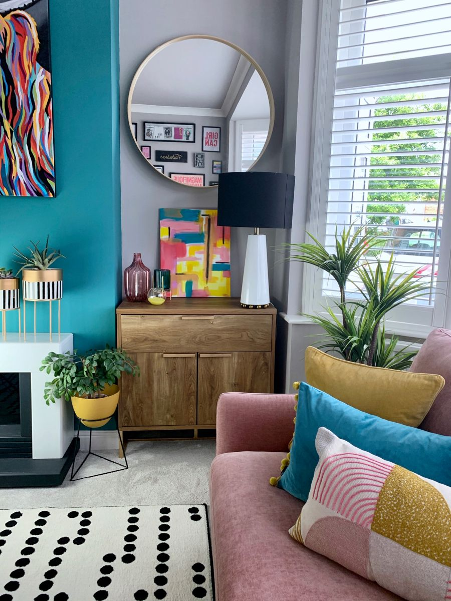 Colourful Living Room In 2020 Teal Living Rooms Colourful Living Room Decor Colourful Living Room #teal #and #pink #living #room