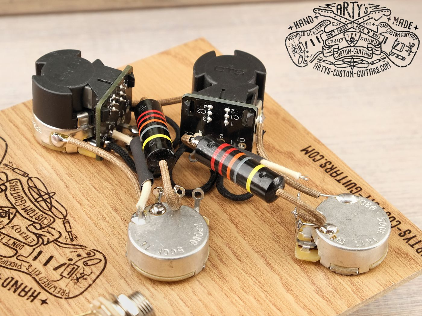 Les Paul Coil Split Vorverdrahtetes Vintage Kit Mit Bumble Wiring Artys Custom Guitars Splitting Prewired Harness Assembly Gibson Bee Black