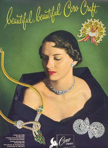 A significant factor in the popularization of costume jewelry was the Hollywood movie. Description from weother.info. I searched for this on bing.com/images  sc 1 st  Pinterest & Vintage ads for Coro costume jewelry 1940s and 1950s | Pinterest ...
