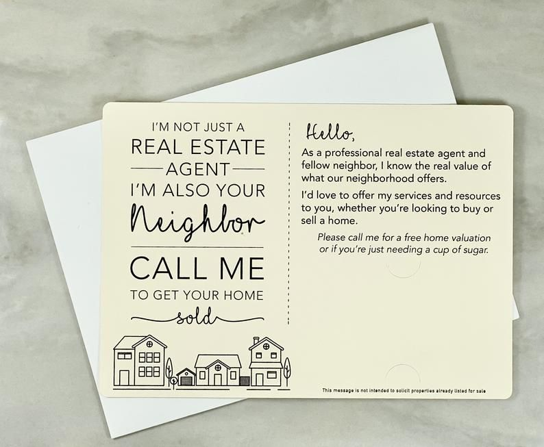 I'm not just a Real Estate Agent, I'm also your Neighbor