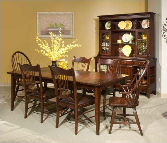 Broyhill Attic Heirlooms Fireside Cherry Leg Dining Table Set In Cherry Dining Sets Cherry Dining Room Sets Dining Table Setting Dining Room Furnishings