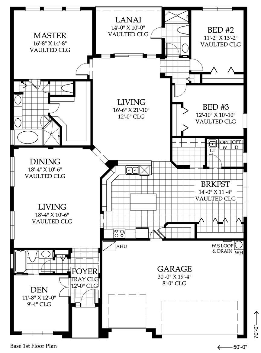 The Amherst 2675 sf, 3 bedrooms, 3 bathrooms, bonus room