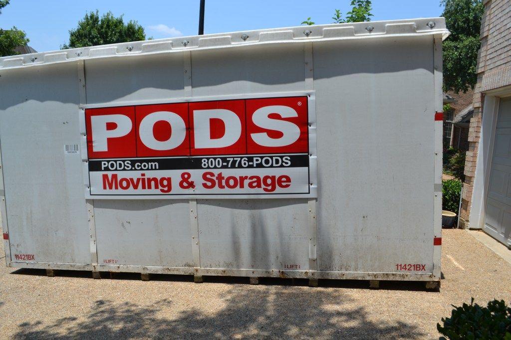 Driveway storage pods