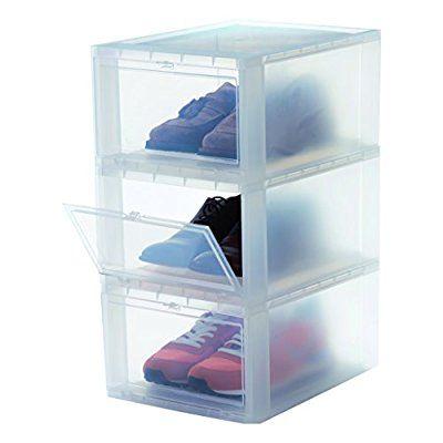 Iris 3er Set Schuhboxen Aufbewahrungsboxen Fur Schuhe Drop Front