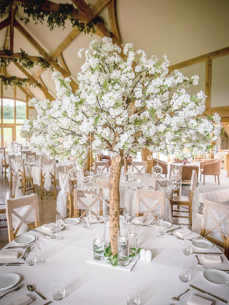 Ivory Blossom Tree 1 Tree Centrepiece Wedding Blossom Tree Wedding Tree Wedding Centerpieces