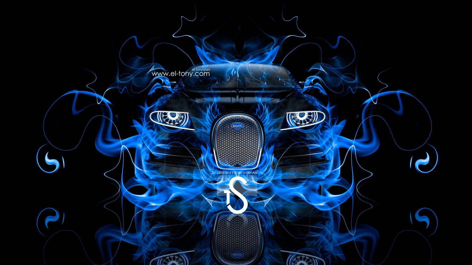 Gold Bugatti Veyron With Neon | Bugatti 16C Galibier Blue Fire Car 2013 HD Wallpapers Design By Tony  .