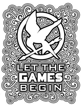 The Hunger Games Coloring Pages Book Hunger Games Hunger Games