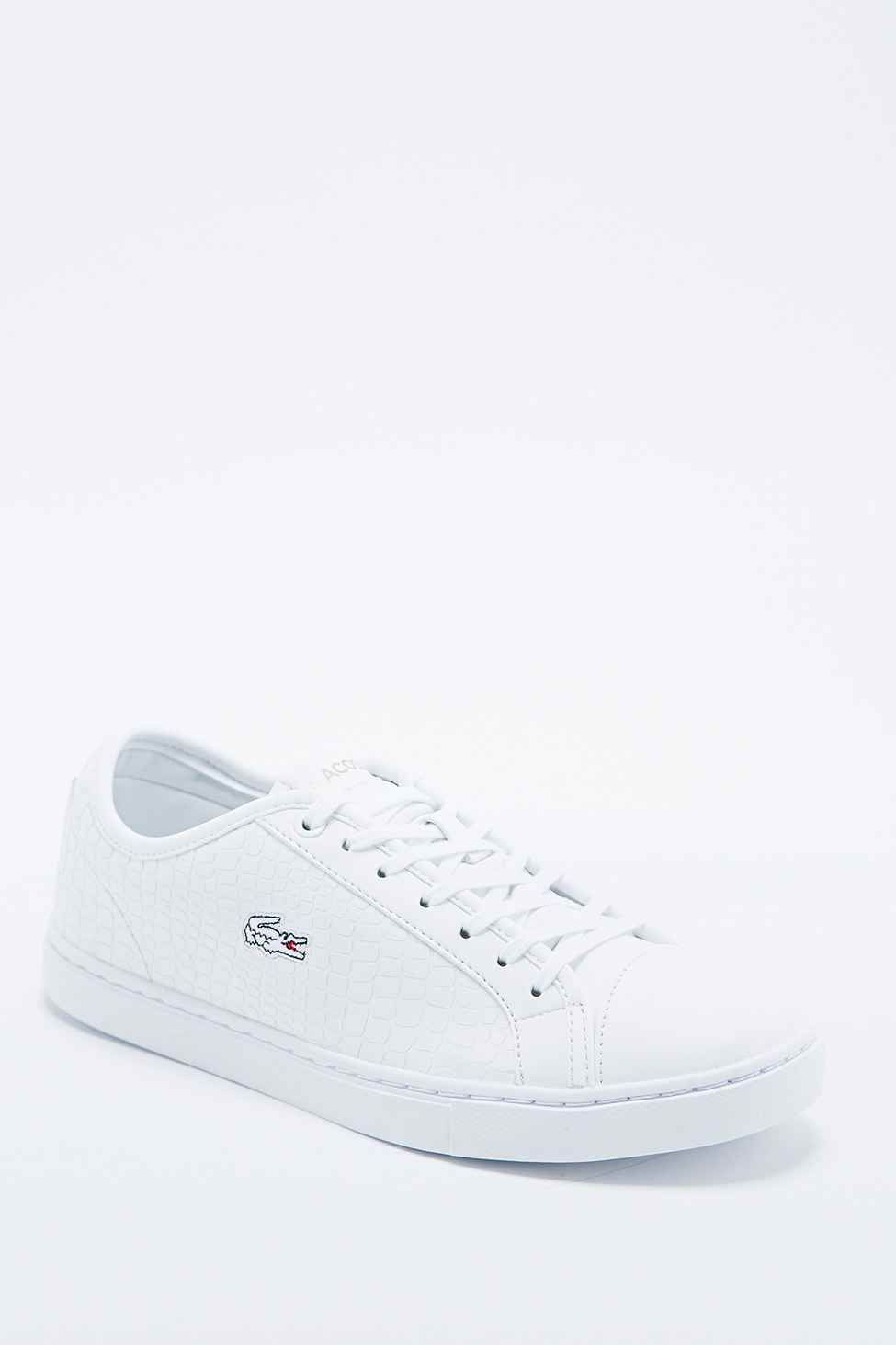 fb769b064f4c5 Lacoste Showcourt Leather Trainers in White