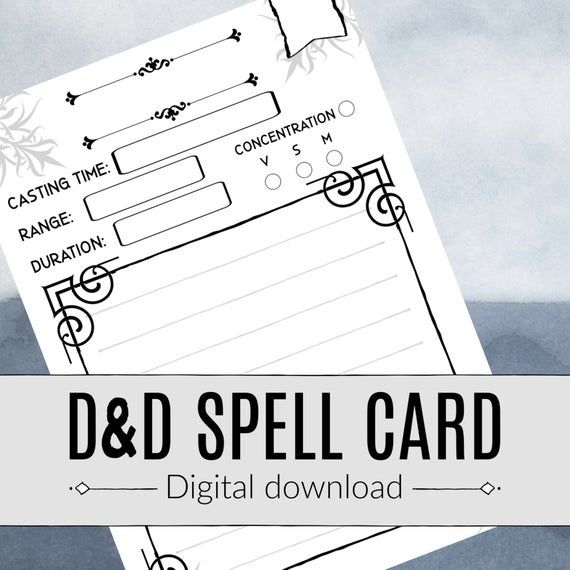 Thebrownfaminaz D D 5e Spell Card Template With Amscan Imprintable Place Card Template Cumed Org 5e Spell Cards Dnd Spell Cards Dnd 5e Spell Cards