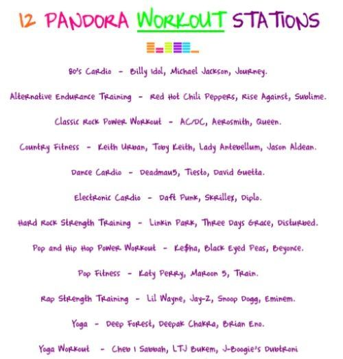 Pandora work out stations