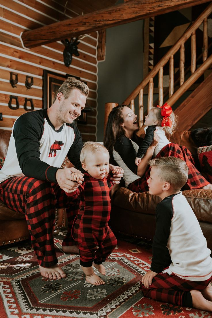 christmas is coming and everyone needs moose plaid matching pajamas so cute and comfy