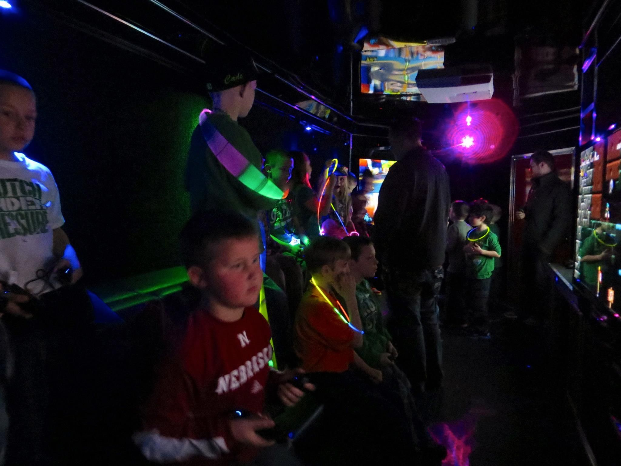 Check out our Laser Light Show! Video game party