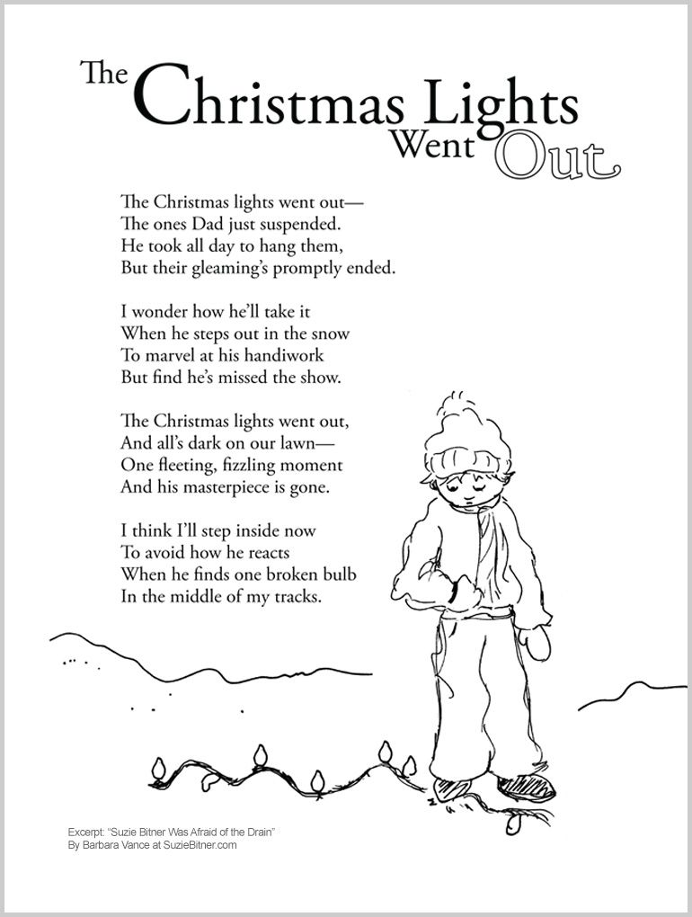 Fun Children's Christmas Poem about Christmas Lights. Great for school and  classroom activities. common core 1st grade, 2nd grade, 3rd grade reading  #ESL - Fun Children's Christmas Poem About Christmas Lights. Great For