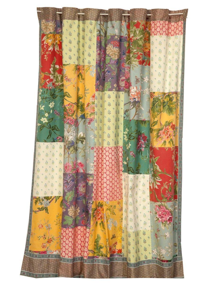Patchwork shower curtain tutorial - Patchwork Patchwork Shower Curtain