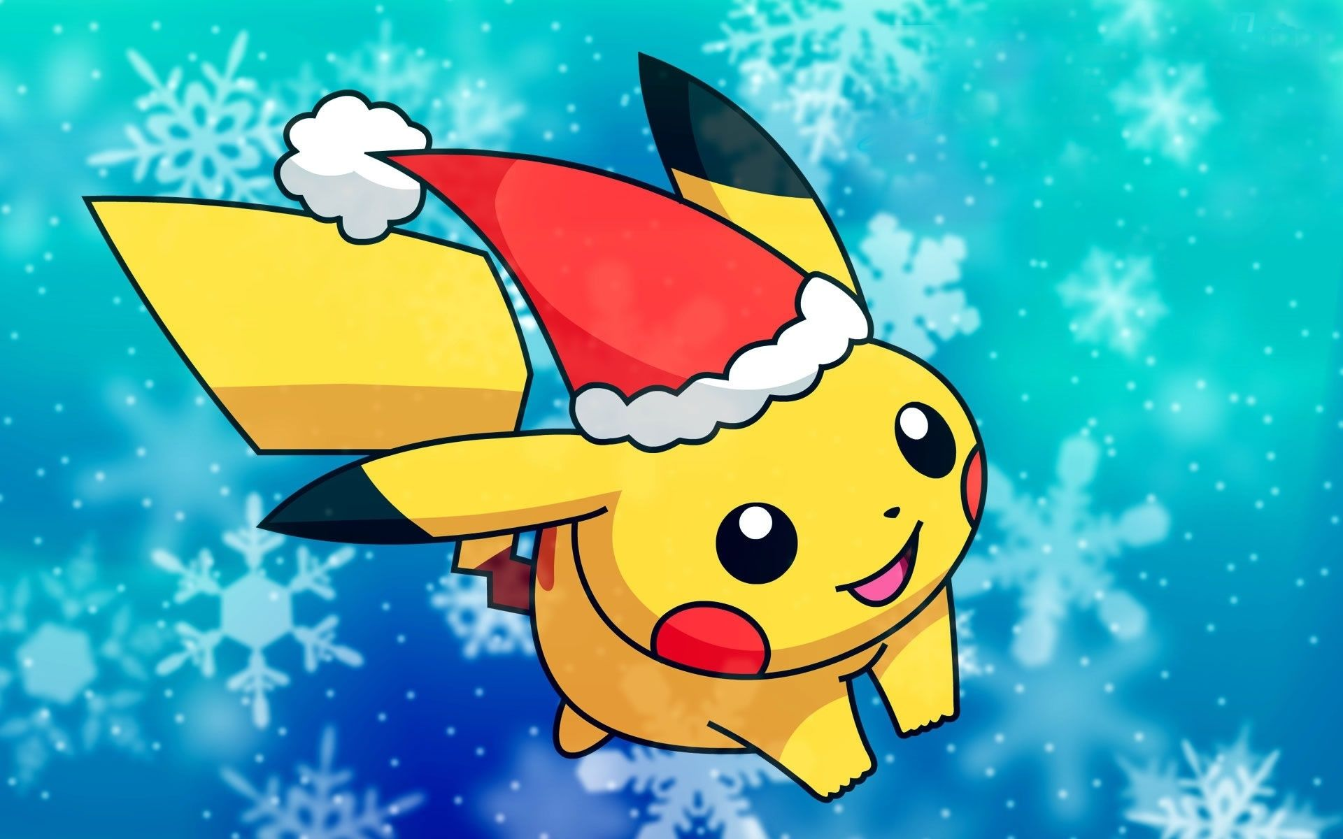 Download Wallpaper Pikachu Pokemon Yellow Free Desktop Wallpaper In The Resolution 1920x1200 P Cute Pokemon Wallpaper Pikachu Wallpaper Christmas Pokemon