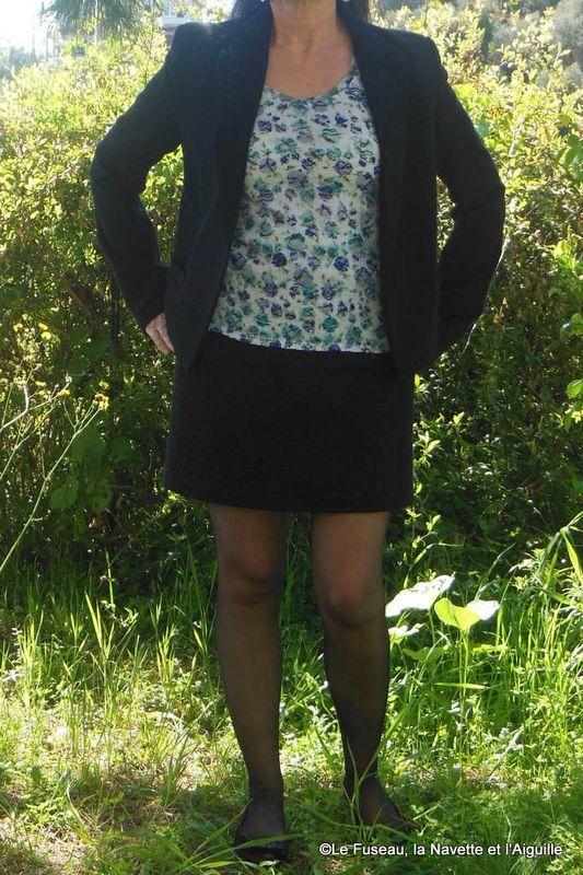 Jupe droite express tuto ctextiles fait de la couture - Patron jupe droite facile ...