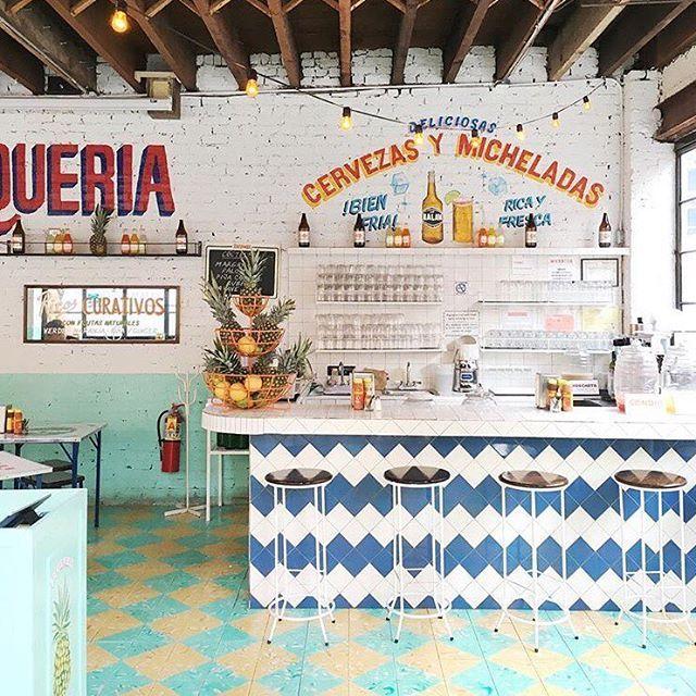 One Kings Lane On Instagram Tgif Anyone Else Craving Tacos And A Margarita Nicholeroberts Mexican Restaurant Design Taqueria Design Taco Restaurant