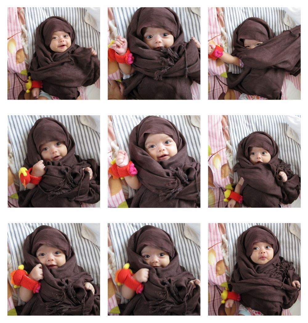 Baby Girl Hijab Beautiful Islam Pinterest Babies Hijabs And