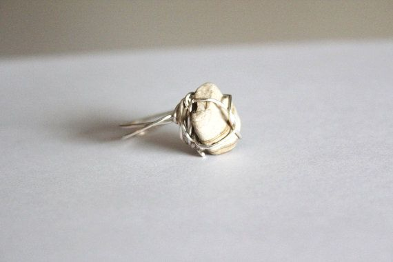 Brown Stone Ring Size 8  Rock Ring  Wire by BessiesCreations, $25.00