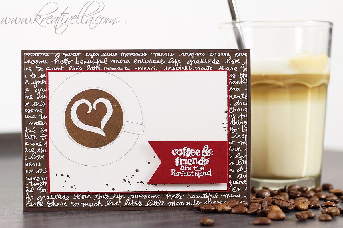 Coffee & friends | Einladung zum Kaffeetrinken | Milchkaffee | Latte Machiatto | Coffee love | Stampin' Up!