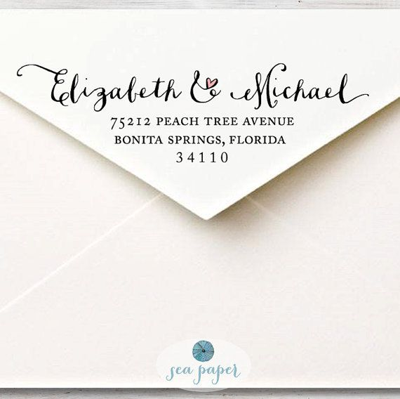 Calligraphy Return Address Label Custom Printable DIY Envelope Mailing Labels