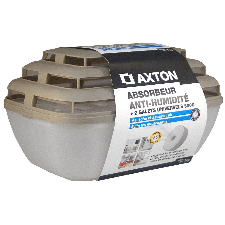 Absorbeur D Humidite Avec Un Lot De 2 Recharges Galet Axton 40 M Absorbeur D Humidite Galets
