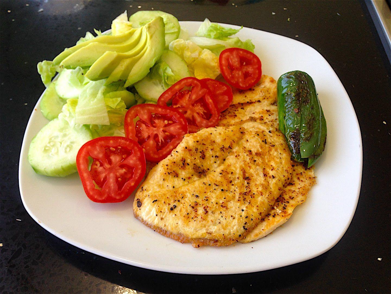 pechuga de pollo con verduras al vapor