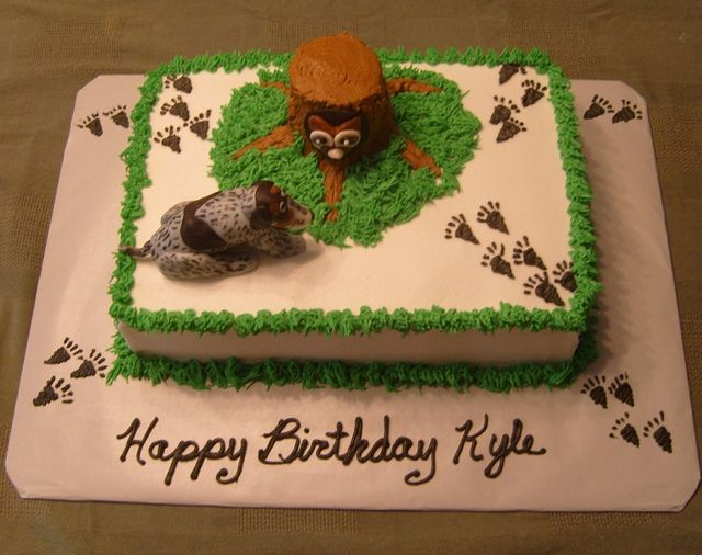 Coon Hunter Sheet Cake A Young Man S Love For Hunting Prompted